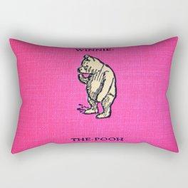 Pooh Bear - Red Rectangular Pillow