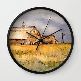 Barns and Windmill Wall Clock