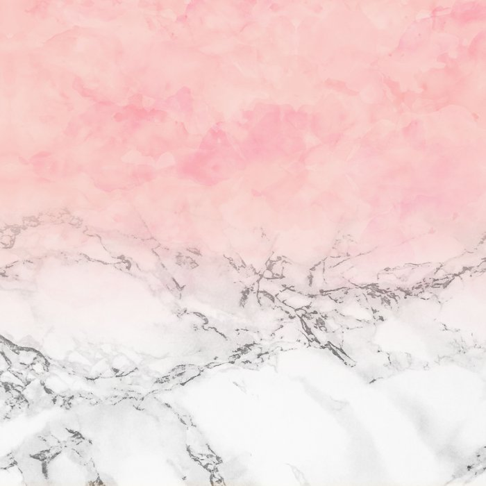 Modern blush pink watercolor ombre white marble Comforters