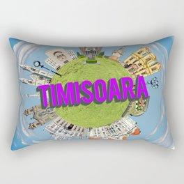 timisoara little planet Rectangular Pillow
