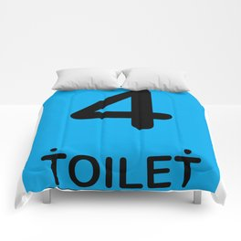 TOILET CLUB #4 Comforters