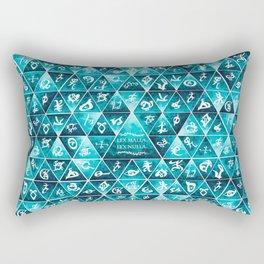 Blackthorn Family Motto Mosaic Rectangular Pillow