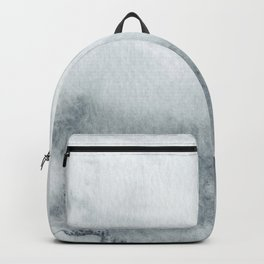 Abstract Watercolor Gray Blue Print Backpack