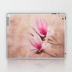 Pink Magnolia III - Flower Art Laptop & iPad Skin