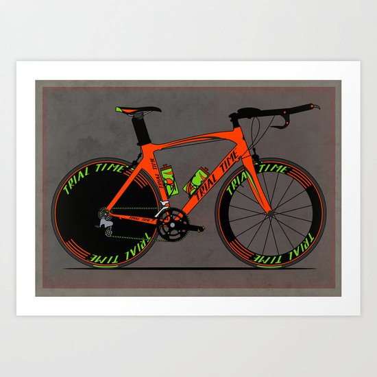 Time Trial Bike Art Print