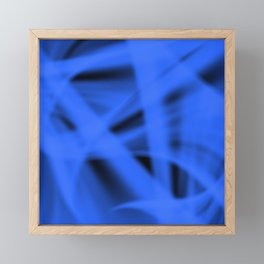 A flowing pattern of smooth blue lines on the fibers of the veil with bright luminous transitions. Framed Mini Art Print