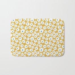 Daisies - Spring - Yellow Bath Mat