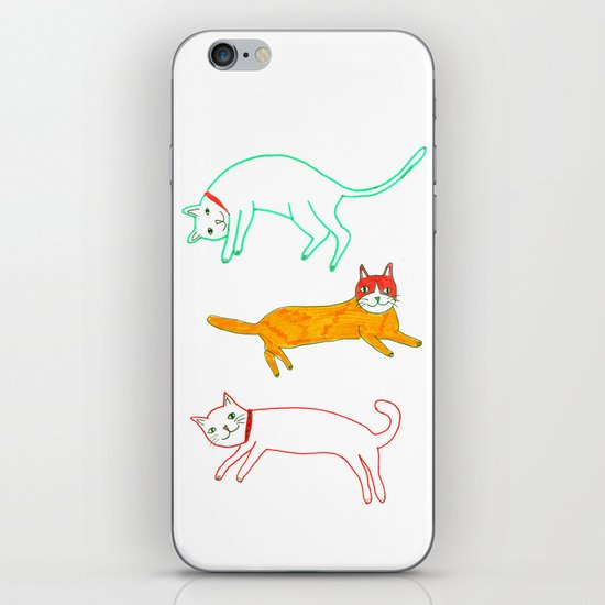 Lying cats iPhone & iPod Skin