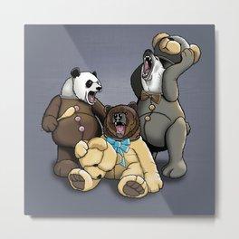 Three Angry Bears Metal Print