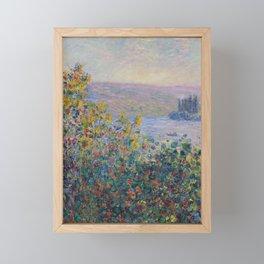 Flower Beds at Vetheuil by Claude Monet Framed Mini Art Print