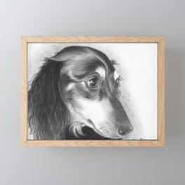 The Dachshund Framed Mini Art Print