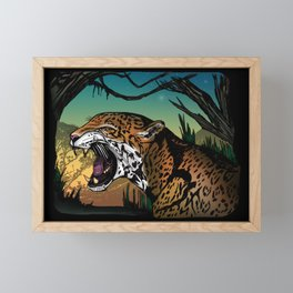 Jaguar Framed Mini Art Print