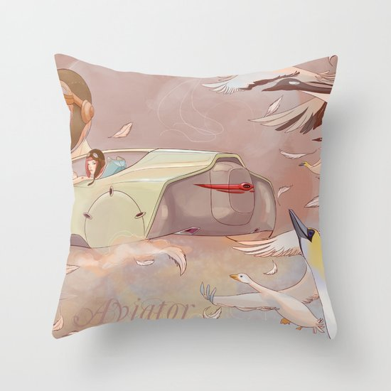 Aviator Night Throw Pillow