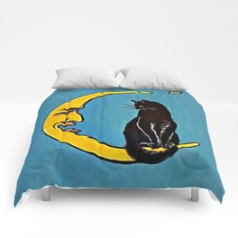 Black Cat & Moon Comforters