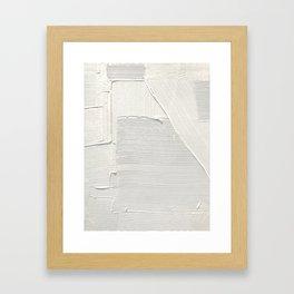 Relief [2]: an abstract, textured piece in white by Alyssa Hamilton Art Gerahmter Kunstdruck