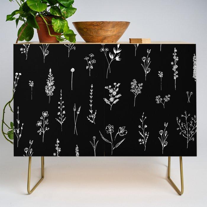 Black wildflowers Credenza