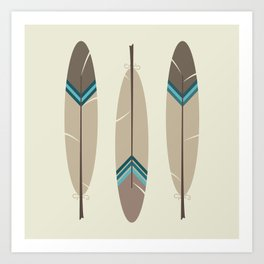 Painted Feathers Art Print