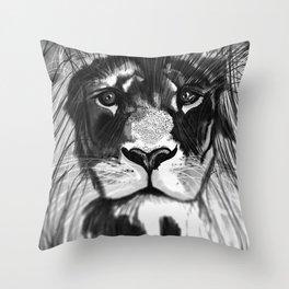 Noble Lion Throw Pillow