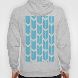 Simple Aqua and white arrow chevron - for your summer Hoody