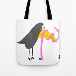 Duel - Bird and Worm Tote Bag