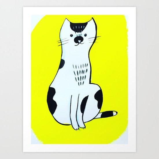 Spotted Cat Art Print