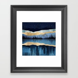 Midnight Lake Framed Art Print