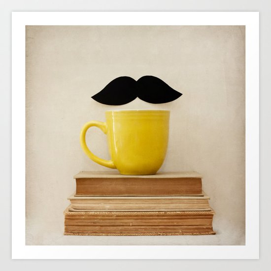 Mr. Stache  Art Print