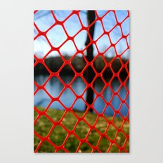 Red fencing Canvas Print