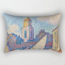 """Paul Signac """"Le clocher de Saint-Tropez"""" Rectangular Pillow"""
