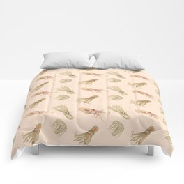 Cephalopods on Blush 2 Comforters