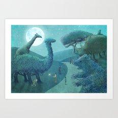 Summer Park - Night Art Print