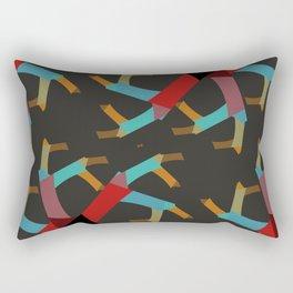 Oddly Fun Abstract Rectangular Pillow
