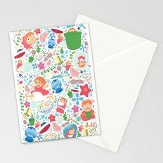 Ponyo Pattern - Studio Ghibli Stationery Cards