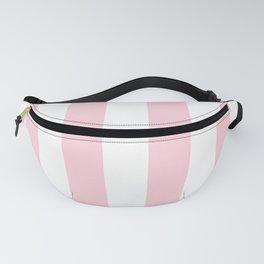 Light Soft Pastel Pink Beach Hut Stripes Fanny Pack