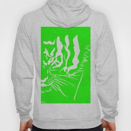 Eye of the tiger - Green & White Hoody