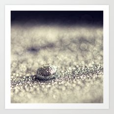 Silver Drop Art Print