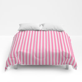 Narrow Vertical Stripes (Pink/Grey): classic stripes in pretty colors for a fresh clean look Comforters