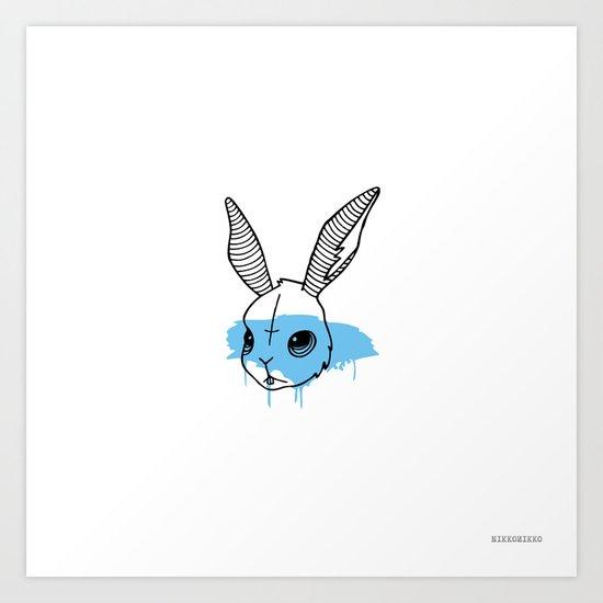 Line Rabbit 1 Art Print