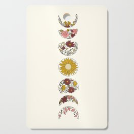 Floral Phases of the Moon Cutting Board