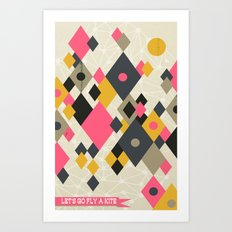 Flying Kites Art Print