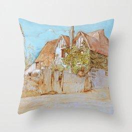 Ivy Cottage, Shoreham - Digital Remastered Edition Throw Pillow