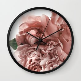 Blush Pink Floral Wall Clock