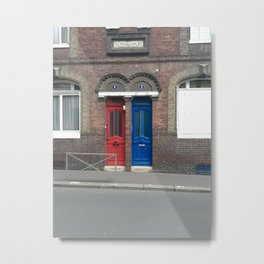 Door in street Metal Print