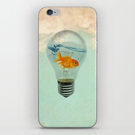 goldfish thinking iPhone & iPod Skin