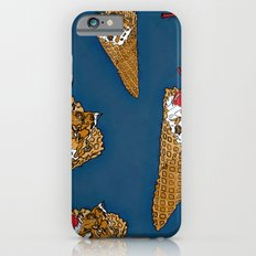 THERE'S ALWAYS TIME FOR A WAFFLE CONE, SOME VANILLA ICE CREAM, CARAMEL, NUTS AND A CHERRY! - BLUE  iPhone 6s Slim Case