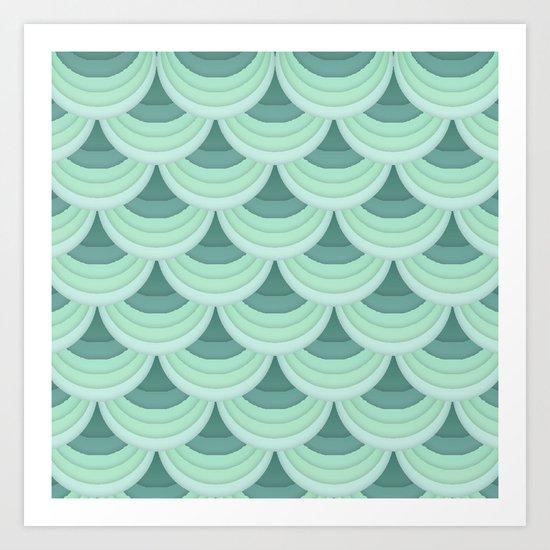Ocean Fan Tail. Art Print