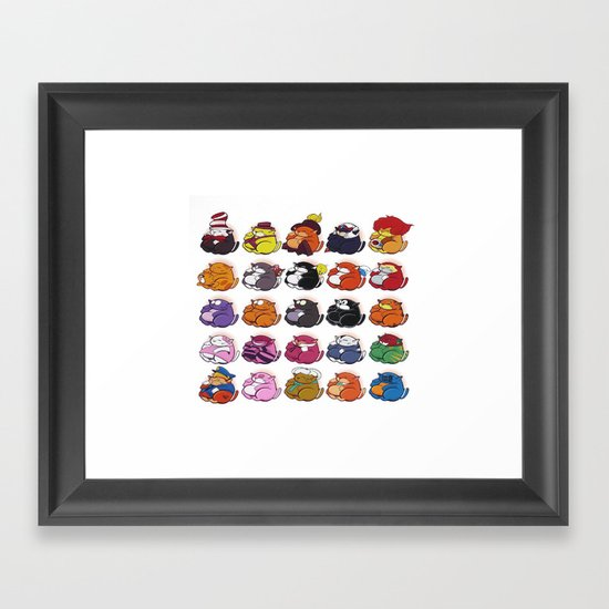 Famous Cats Framed Art Print