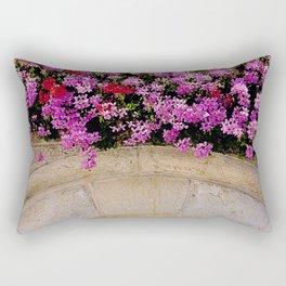 Flowers Over Archway, Jerusalem Rectangular Pillow
