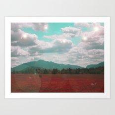 Red Ash Art Print