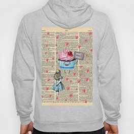 Eat Me - Alice In Wonderland - Vintage Dictionary Page Hoody